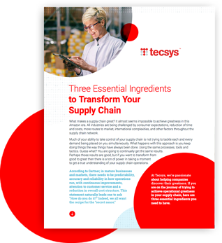 Three Essential Ingredients to Transform Your Supply Chain
